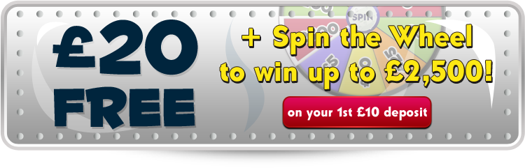 £20 Free + Spin The wheel!